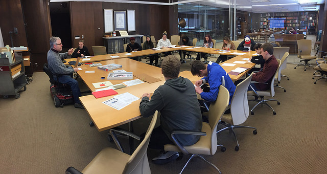 DIY Publishing visits special collections, Spring 2015