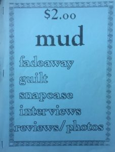 My first zine, circa 1993